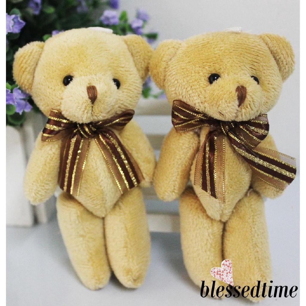 YJ★Plush Stuffed Mini Brown Bear Toys