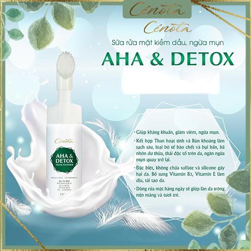 Sữa rửa mặt Aha & Detox facial cleanser 150ml, sữa rửa mặt giúp tạo bọt, kiềm dầu, ngăn ngừa mụn hiệu quả - mã C04 buny