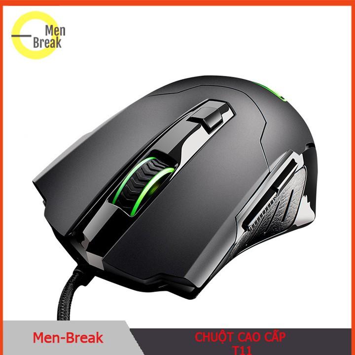 Chuột chơi game có dây T11, thiết kế cứng cáp, độ phân giải quang học cao tốc độ chuột cực nhanh Giá chỉ 338.000₫