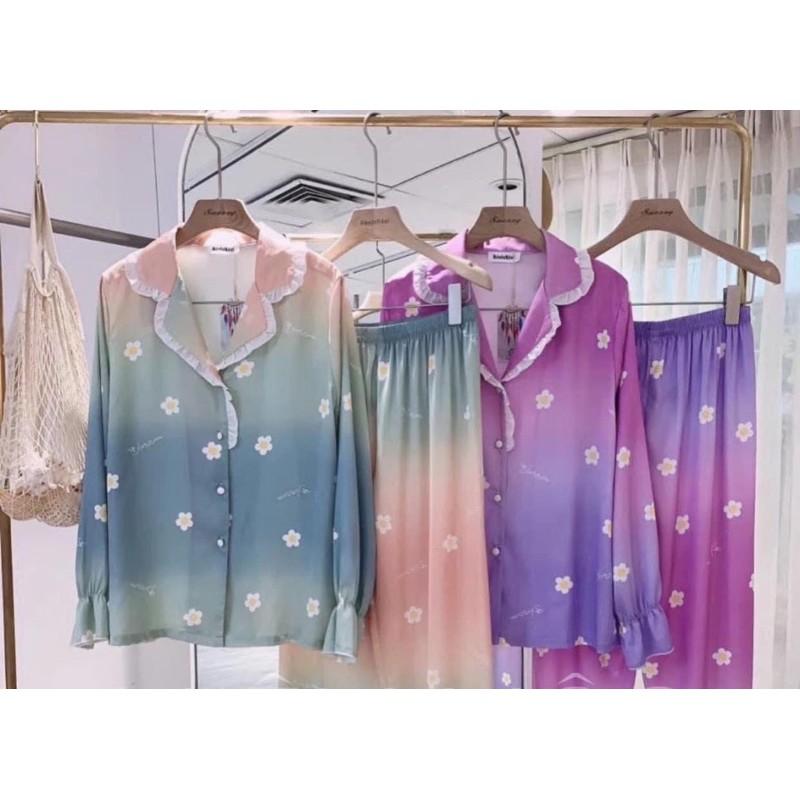 [Mã WASEPRN hoàn 20% xu đơn 99k] Bộ đồ Pijama lụa💖Bộ lụa tay dài hoạ tiết mát lịm [HÀNG ĐẸP CHUẨN] [ẢNH THẬT +VIDEO]