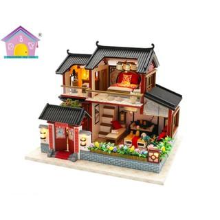 Mô hình nhà gỗ DIY – Phố cổ 2