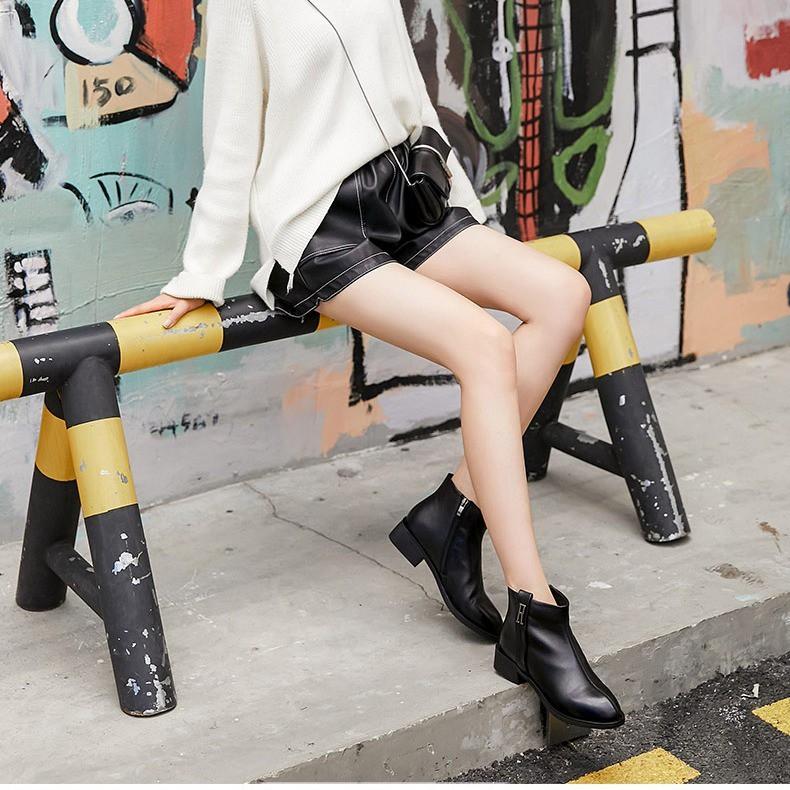 Giày Bốt Cổ Cao Lót Lông Thời Trang Cho Nữ