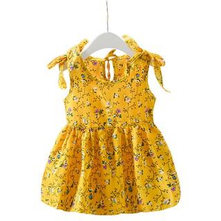 [Mã KIDMALL15 hoàn 15% xu đơn 150K] Váy hoa vai thắt nơ cách điệu cho bé gái M2 MIMOCHY QC008