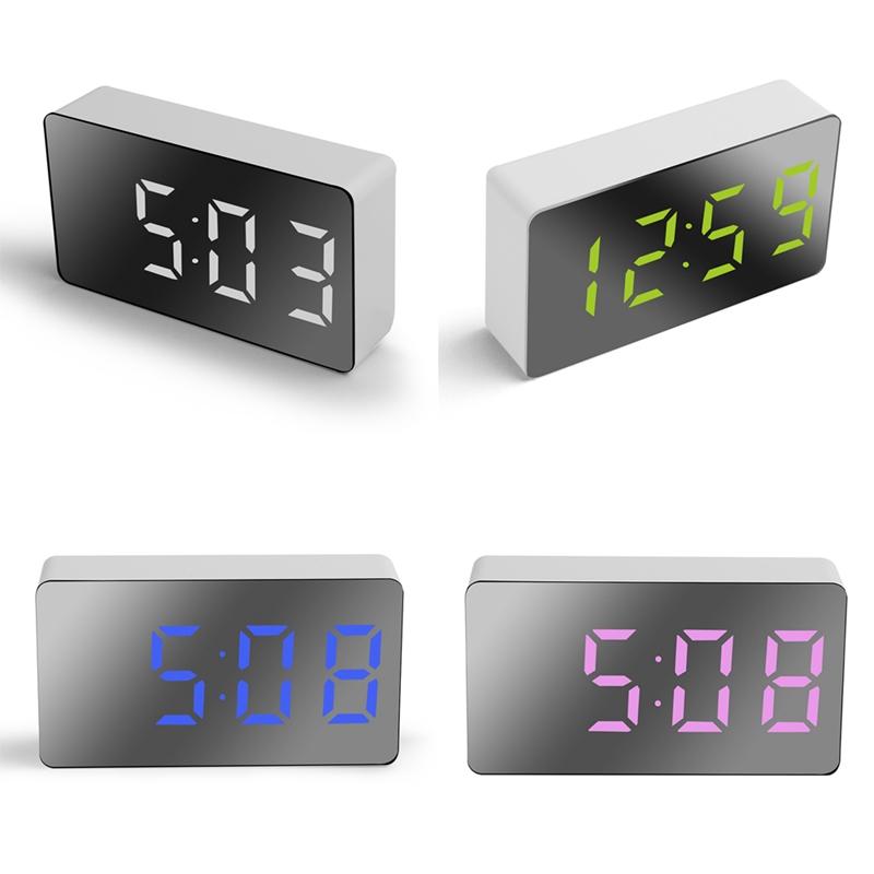 Đồng hồ báo thức điện tử có đèn led hiển thị nhiệt độ trang trí nhà cửa