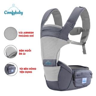 Địu ngồi trẻ em cao cấp siêu mềm 4 tư thế công nghệ Air Mesh thoáng khí - Comfybaby CF818 địu ngồi chữ M
