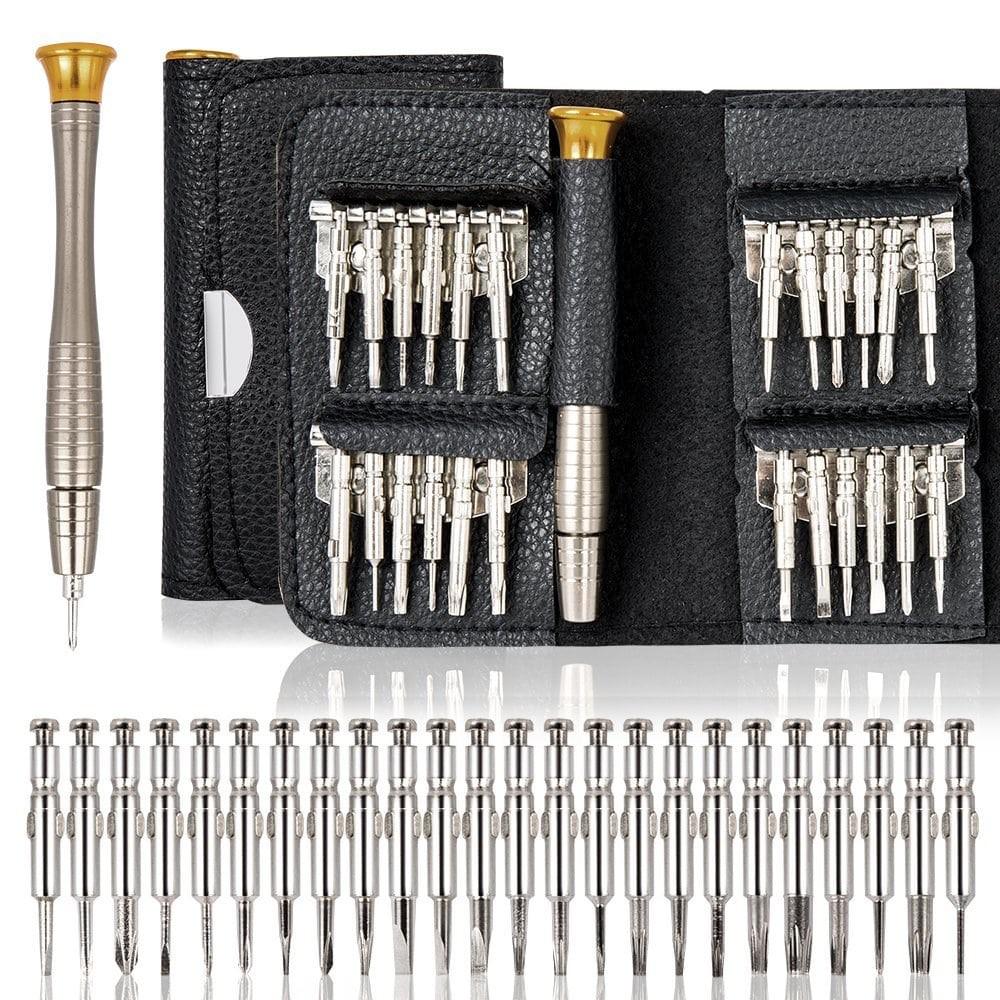 Bộ tua vít đa năng sửa chữa điện thoại screwdriver 25 đầu bóp da Chammart