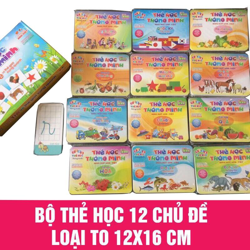 Bộ thẻ học thông minh Flashcard 2 mặt song ngữ Bibo cỡ to 12 chủ đề 281 thẻ - Hàng Việt Nam - 2580145 , 1207120115 , 322_1207120115 , 289000 , Bo-the-hoc-thong-minh-Flashcard-2-mat-song-ngu-Bibo-co-to-12-chu-de-281-the-Hang-Viet-Nam-322_1207120115 , shopee.vn , Bộ thẻ học thông minh Flashcard 2 mặt song ngữ Bibo cỡ to 12 chủ đề 281 thẻ - Hàng