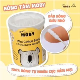 Hộp bông tăm Baby Moby cỡ nhỏ (150 cái hộp)