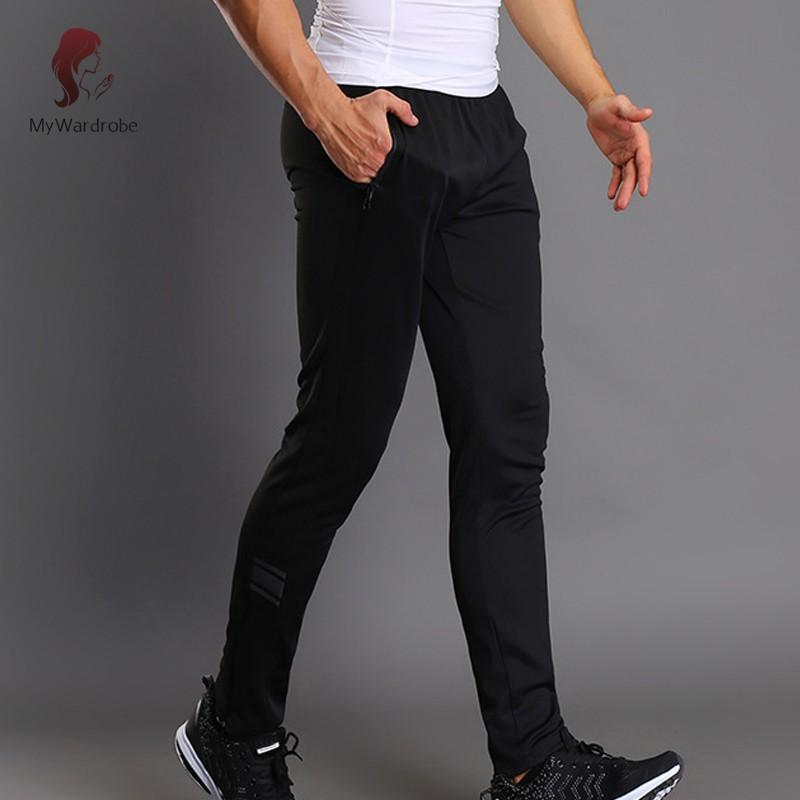 ETXK Men Sport Pants Trousers Breathable Casual for Running Training Fitness Summer
