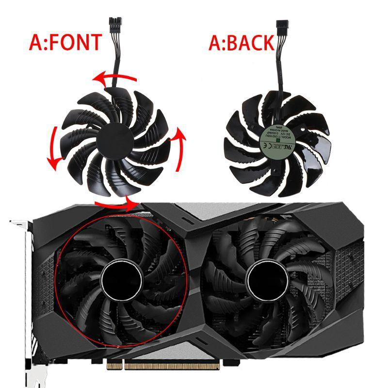 Quạt Tản Nhiệt Cre T129215Su 85mm Cho Gigabyte Geforce Gtx 1050 1050ti 1060 1070 1070ti G1 Radeon Rx 570 580 Mi