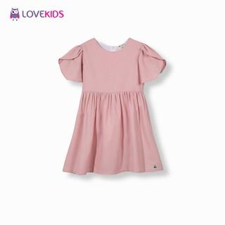 Váy BG linen dáng xòe tay cánh sen - Lovekids