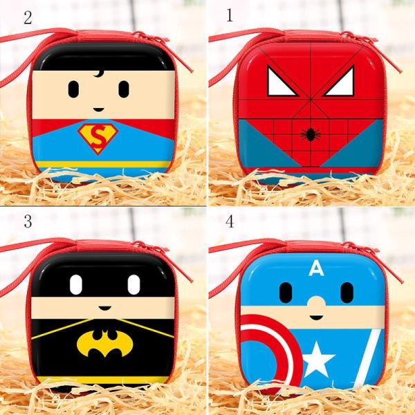Mini Fashion Cool Anime Avenger Superheros Square Coin Purse Wallet