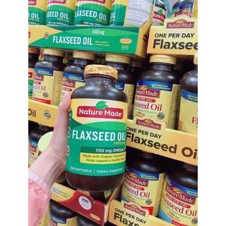 300 viên / Dầu Hạt Lanh Flaxseed Oil Nature Made 1400mg, Mỹ