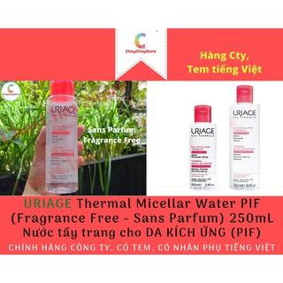 [TEM CTY] Nước tẩy trang Uriage Thermal Micellar Water PIF (Fragrance Free) 250mL - cho DA KÍCH ỨNG (PIF) thumbnail