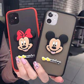 iPhone 11 11Pro 5 5s 6 6s 7 8 Plus X Xs XR Xs Max 6+ 6s+ 7+ 8+ Stereo Cartoon Mickey Minnie Mobile Phone Case Drop-resistant Frosted Cover Casing