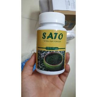 bột tảo Sato nhật bản dùng cấy trắng trong spa, đắp mặt nạ