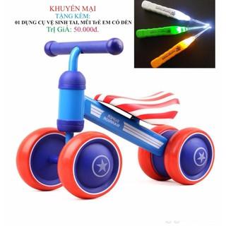 Xe chòi chân 4 bánh tự cân bằng cho bé yêu tặng 1 dụng cụ vệ sinh tai (Tuan69)