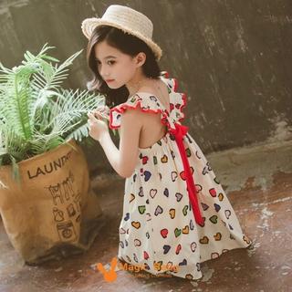 Đầm Xòe Chấm Bi Xinh Xắn Dành Cho Bé Gái