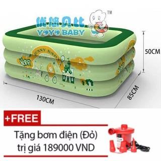 Bể bơi Yoyo 130*85*55CM 3 tầng tặng bơm điện 2 chiều