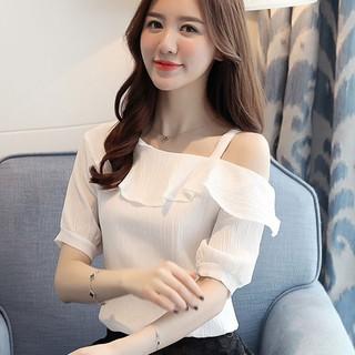 Áo kiểu lẹch vai duyên dáng – Ai-011 Chất liệu cao cấp, thời trang nữ 2019 T6
