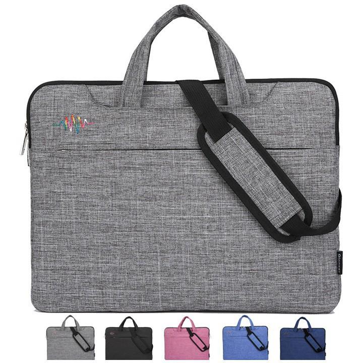 [BÁN LẺ]  Cặp 1 ngăn 3 túi phụ cho laptop, Macbook  | HÀNG MỚI