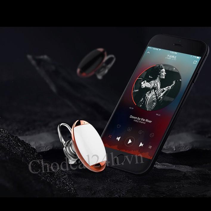 Tai nghe Bluetooth Mini Giọt Nươc CDTB02 - Trắng viền đỏ