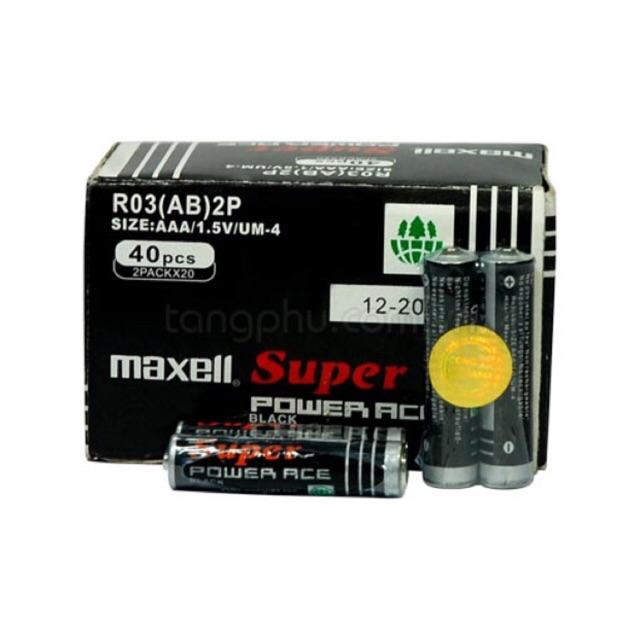 [SALE 10%] Cặp 2 pin tiểu AAA, 3A Maxell, Toshiba 1.5V