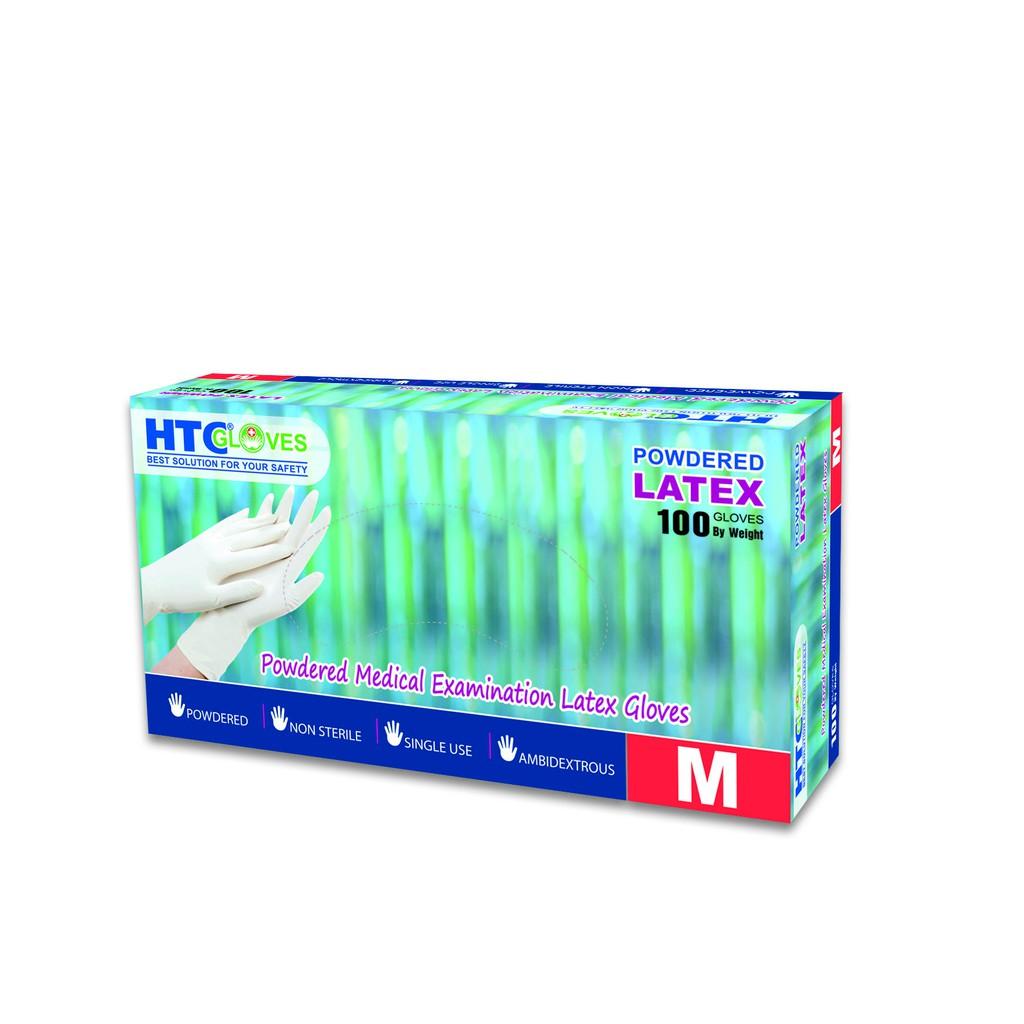 Găng tay y tế không bột HTC (Trắng)