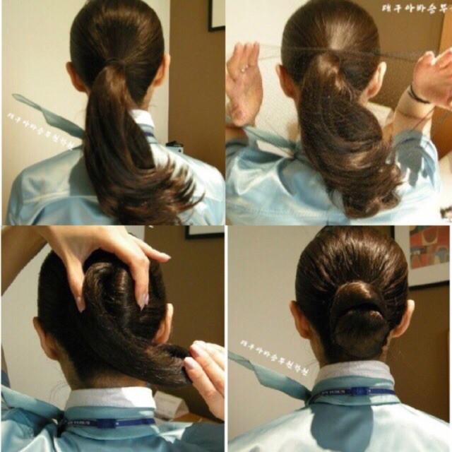 10 lưới búi tóc tiếp viên kèm 10 kẹp chữ U màu đen