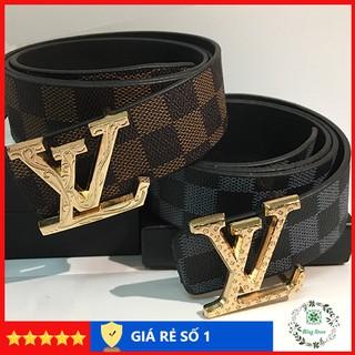 Thắt lưng nam LV, dây lưng lv thời trang, dây lưng nam cao cấp, mặt kim loại nguyên khối trẻ trung lịch lãm TLLV001