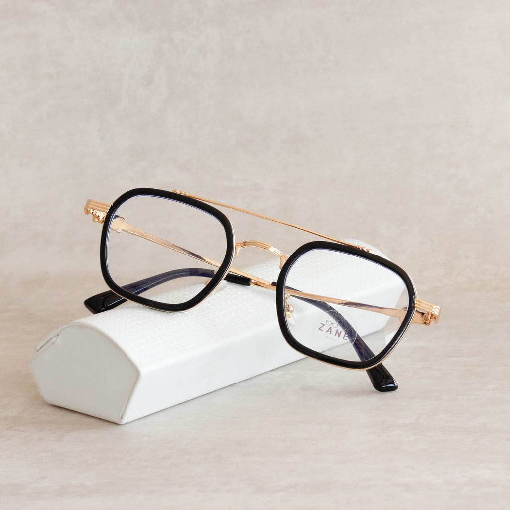 [LẮP SẴN CẬN] – Gọng kính cận nam nữ, mắt kính chữ nhật, gọng kính 2 cầu, tròng kính đổi...