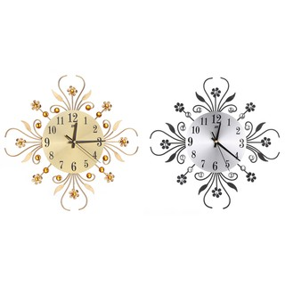 Đồng hồ kim loại gắn tường trang trí phong cách vintage