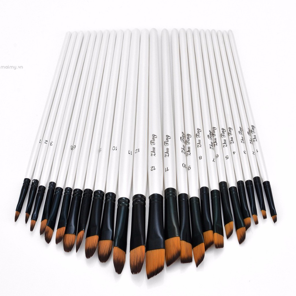 ✨maimy✨12pcs New Artist Paint Brushes Set Acrylic Oil Watercolour Painting Art Craft