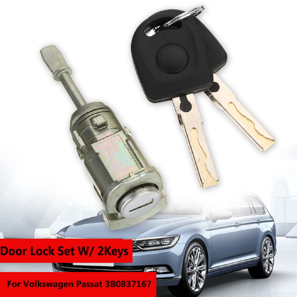For Volkswagen Passat 3B0837167 Complete Door Lock Set With 2 Keys Left Side