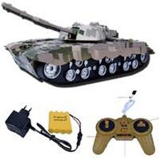Xe tank điều khiển từ xa dùng sạc điện có đèn cao cấp