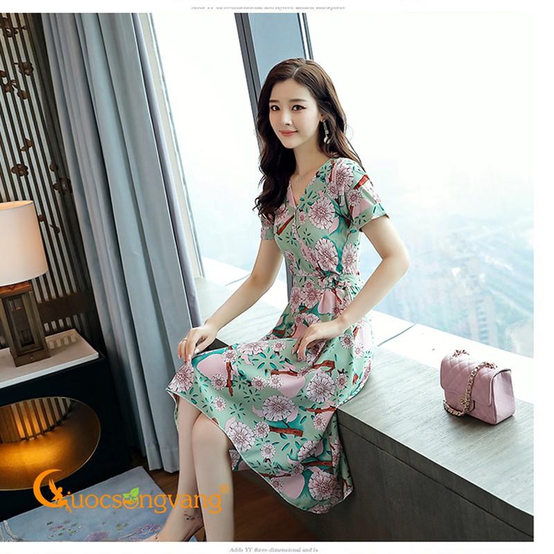 Váy đầm voan phi mờ váy đầm midi dáng dài GLV070 Cuocsongvang