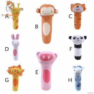 Baby Cute Animal Pattern Cartoon Plush Hand Bell