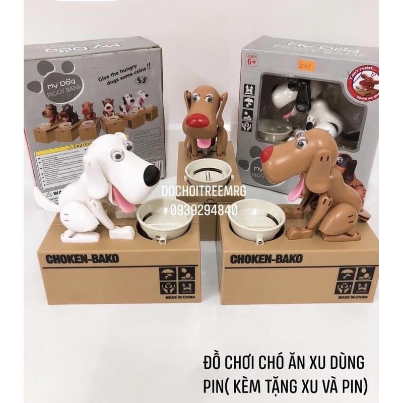 Đồ chơi chó ăn xu vui nhộn( tặng kèm đồng xu và pin)