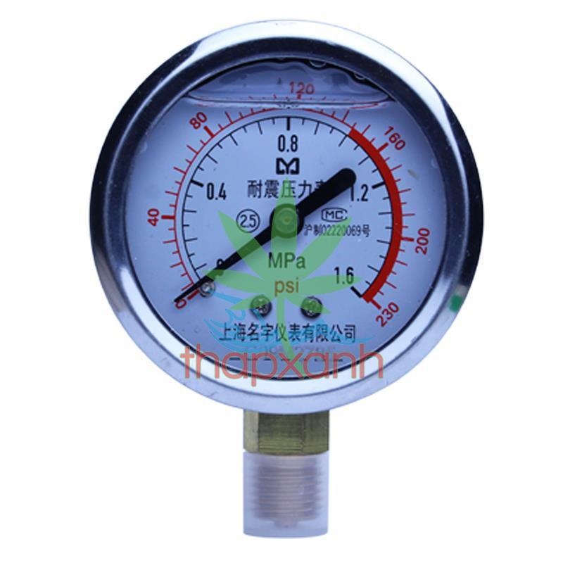 Đồng hồ đo áp suất nước, khí nén, áp kế, van đo áp suất YN60