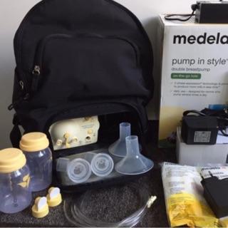 Máy hút sữa medela pump balo phụ kiện dập nổi medela chính hãng new 100%