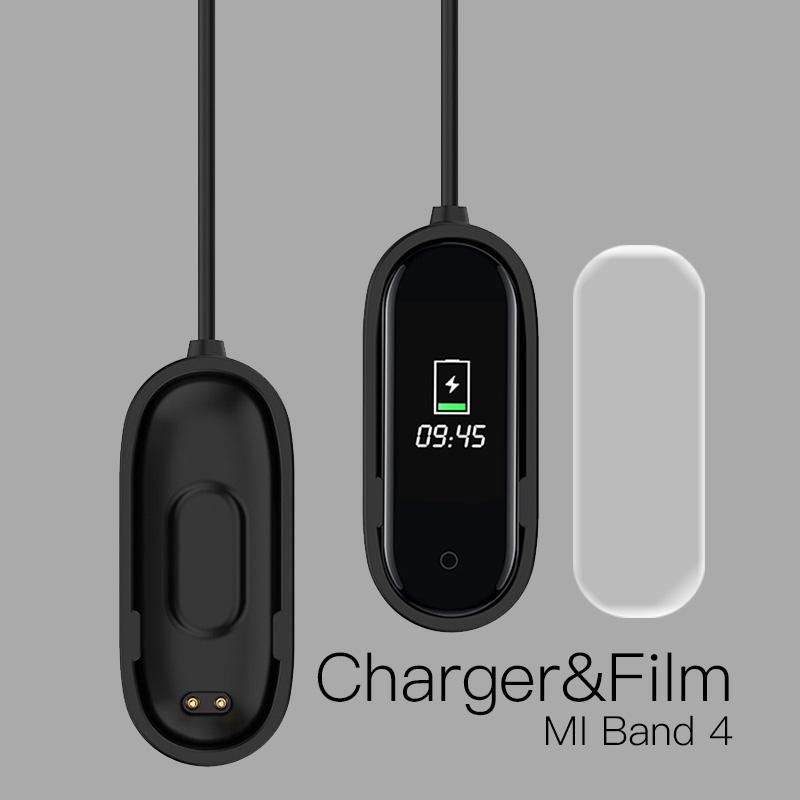 Mi band 4 USB Chargers Cable +Free Protector For Xiaomi Mi band 4 Smart Watch