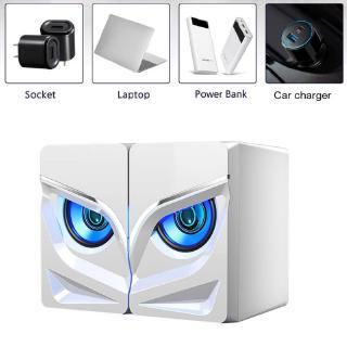 Set 2 Loa Mini Giắc Cắm 3.5mm Gắn Đèn Led Dành Cho Máy Tính / Điện Thoại / Máy Tính Bảng