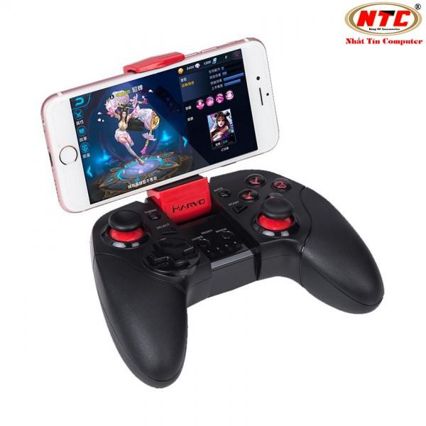 Tay cầm chơi game không dây bluetooth Marvo GT-62 hỗ trợ Android/IOS/PC (Đen) - 2495741 , 1311341104 , 322_1311341104 , 500000 , Tay-cam-choi-game-khong-day-bluetooth-Marvo-GT-62-ho-tro-Android-IOS-PC-Den-322_1311341104 , shopee.vn , Tay cầm chơi game không dây bluetooth Marvo GT-62 hỗ trợ Android/IOS/PC (Đen)