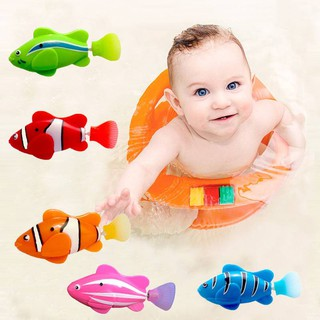 Fish Magical Electronic Toy Flashy Electronic Fish Pets Robo Swimming Fish Wonderful Electric Clownfish Kids Bath
