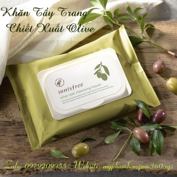Khăn Giấy Tẩy Trang Từ Olive – Innisfree Olive Real Cleansing Tissue - 9993083 , 339479021 , 322_339479021 , 140000 , Khan-Giay-Tay-Trang-Tu-Olive-Innisfree-Olive-Real-Cleansing-Tissue-322_339479021 , shopee.vn , Khăn Giấy Tẩy Trang Từ Olive – Innisfree Olive Real Cleansing Tissue