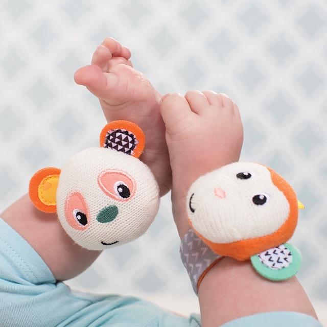 Lục lạc đeo tay chân gấu Panda và bạn Khỉ Infa