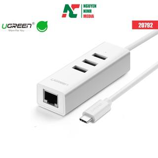 Cáp Chuyển Đổi USB Type C Sang LAN + Hub USB Ugreen 20792