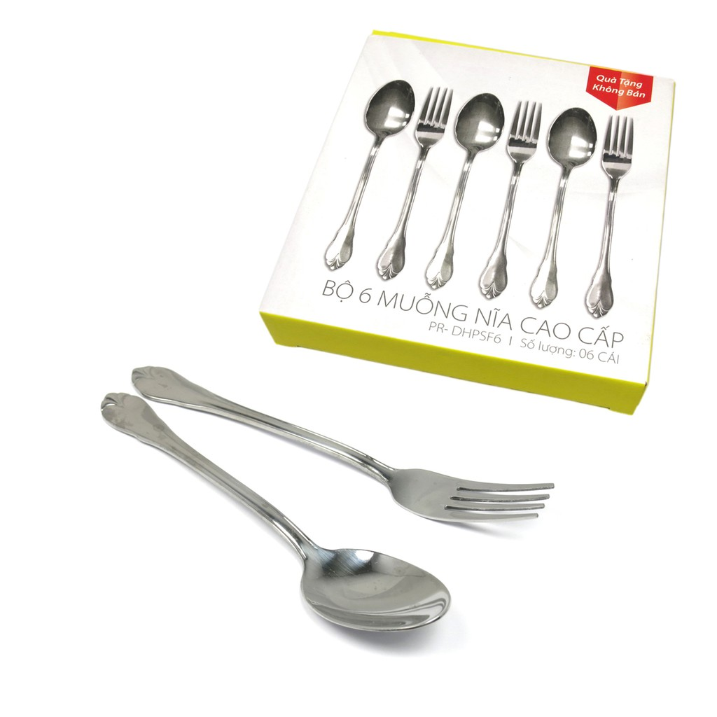 Bộ 6 muỗng thìa nĩa cao cấp Sharp