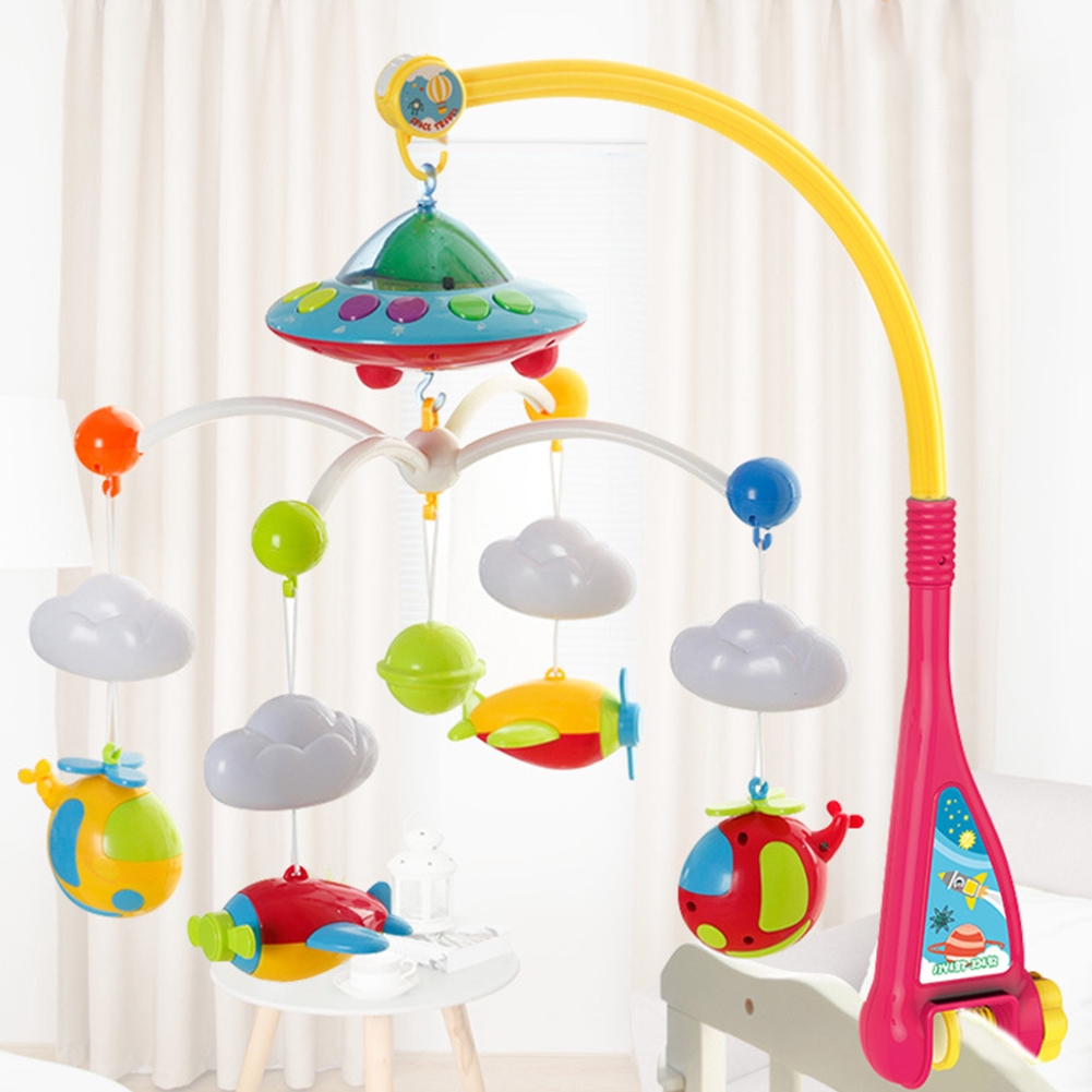 Educational Baby Mobile Musical Rotate DIY Cute Infant Crib Rattle