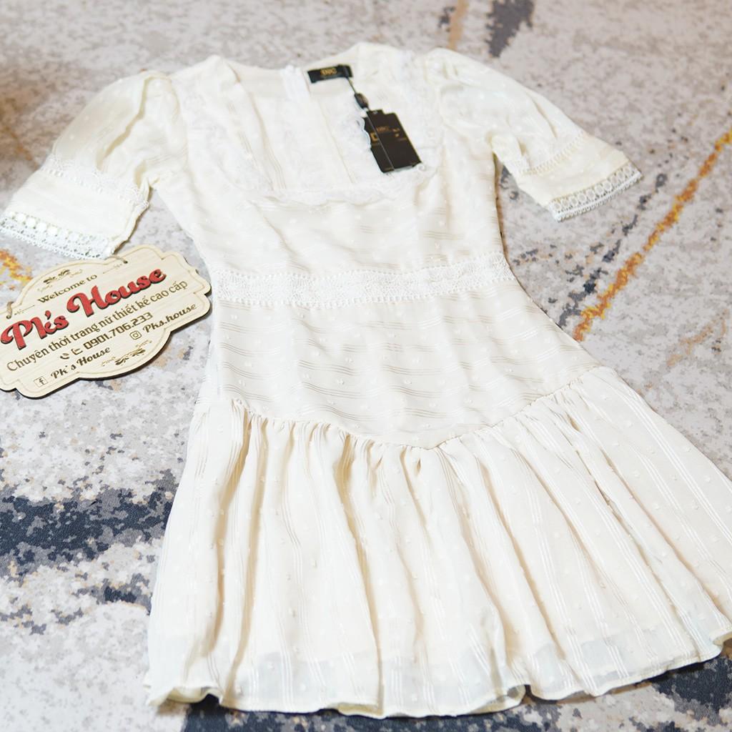 Mặc gì đẹp: Tung bay với Váy Xoè Trắng Voan Ren V1646 🌸FREESHIP🌸 Chất Liệu Voan Ren Nhật - PK's House (Ảnh thật trải sàn do shop tự chụp)